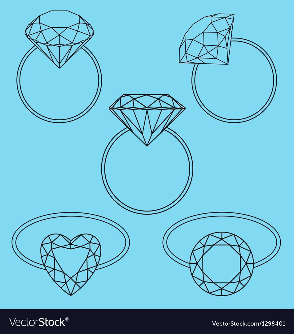 Diamond rings set
