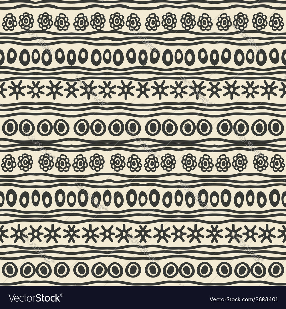 Hand drawing ethnic pattern