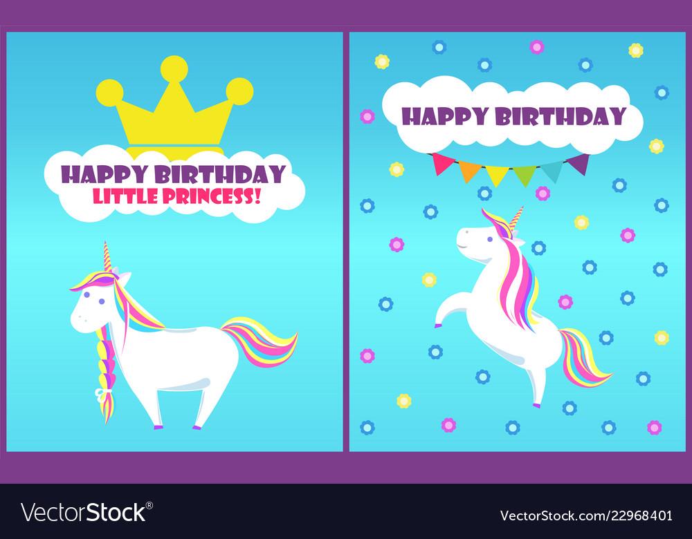 Happy birthday little princess card set