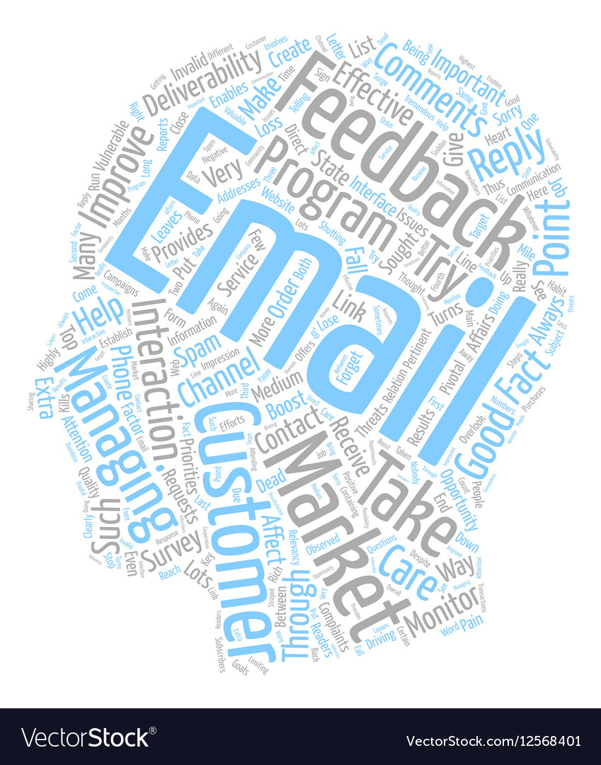 Monitor Feedback to Boost Deliverability text vector image