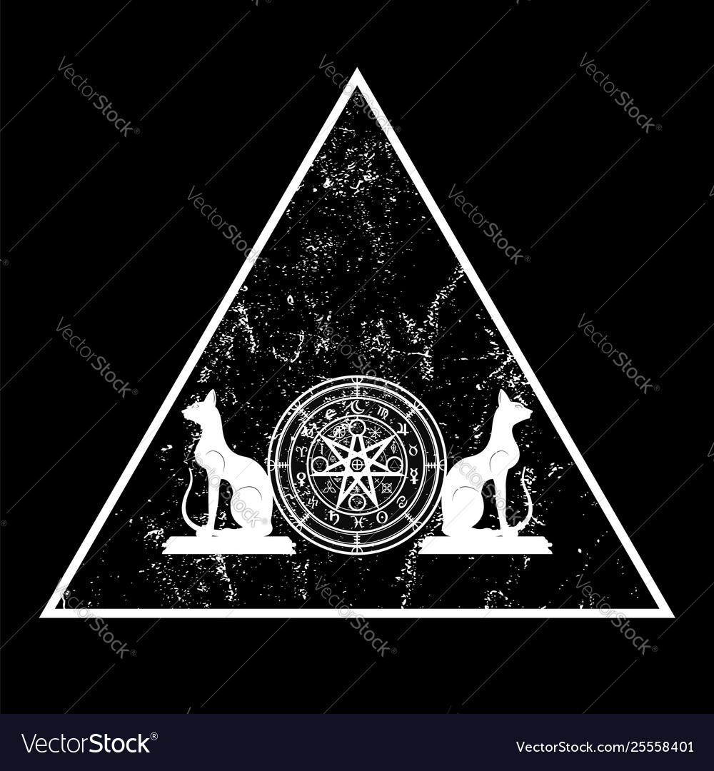 Wiccan symbol protection triangle mandala icon