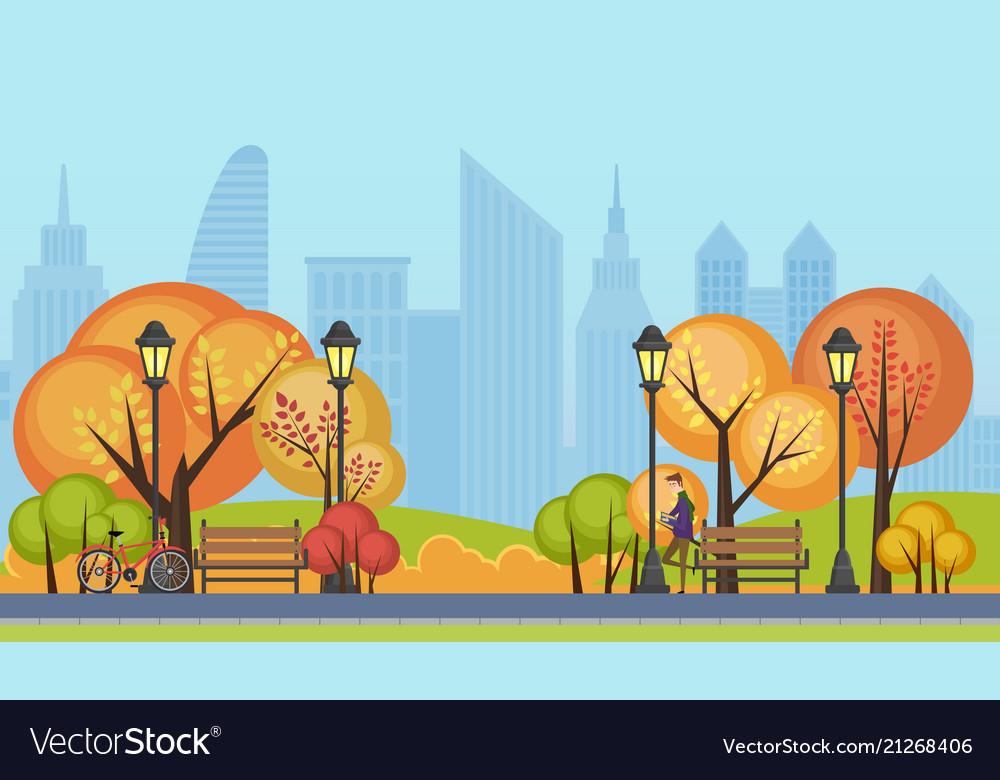 A beautiful autumn public