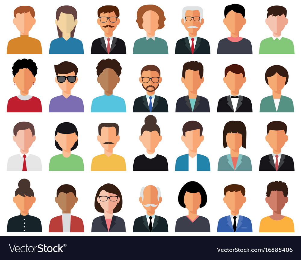 Business men and business women vector image