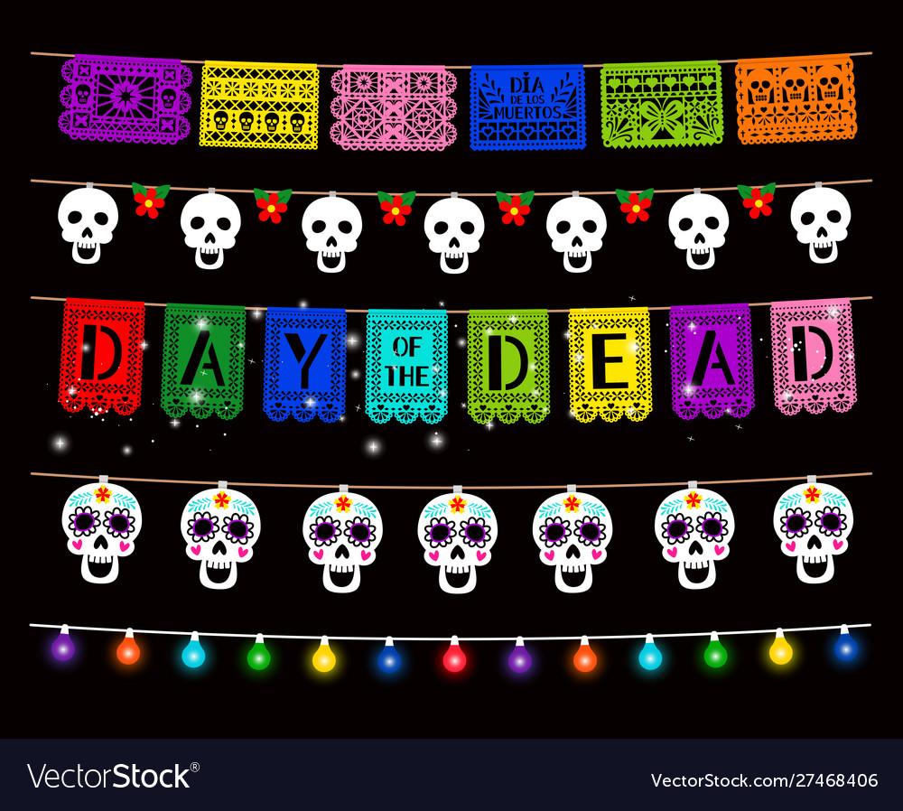 Day dead dia de los muertos party decorations