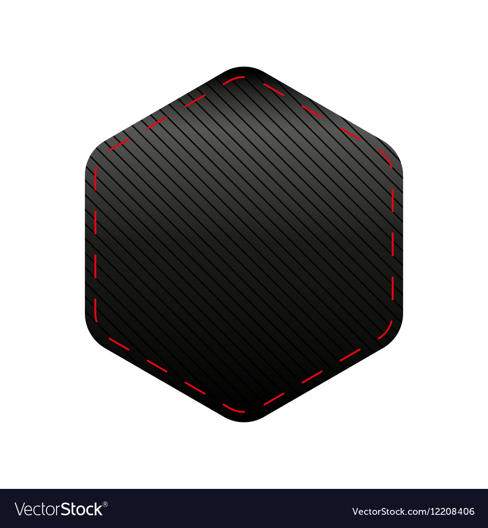 Empty Hexagon patch sticker