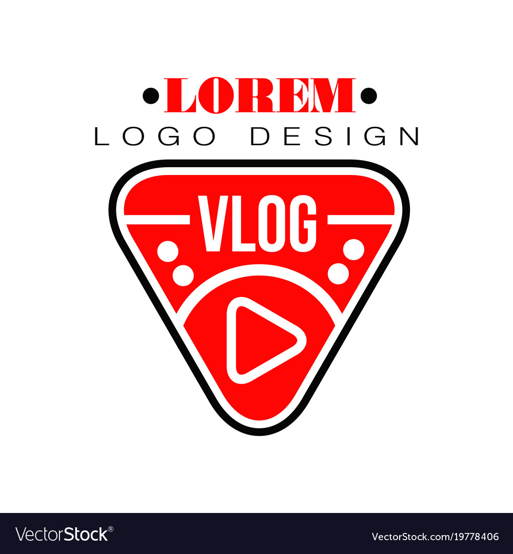 Geometric logo for vlog or youtube channel Vector Image