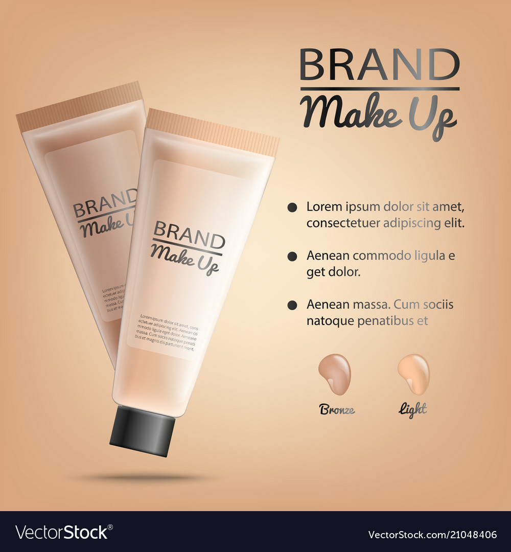 Make Up Product Promotional Banner Royalty Free Vector Image