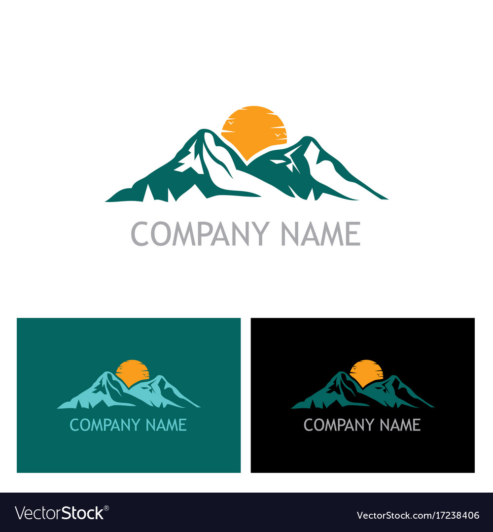 Mountain nature logo