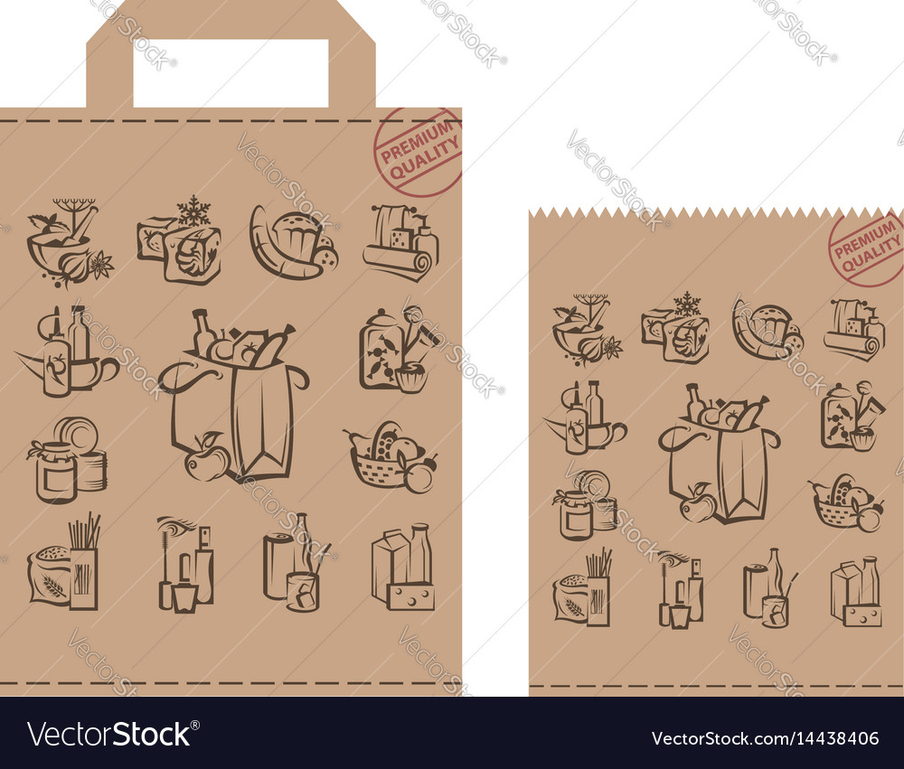 Package with food and goods vector image
