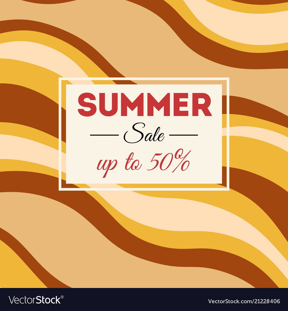Summer sale background with wavy stripes