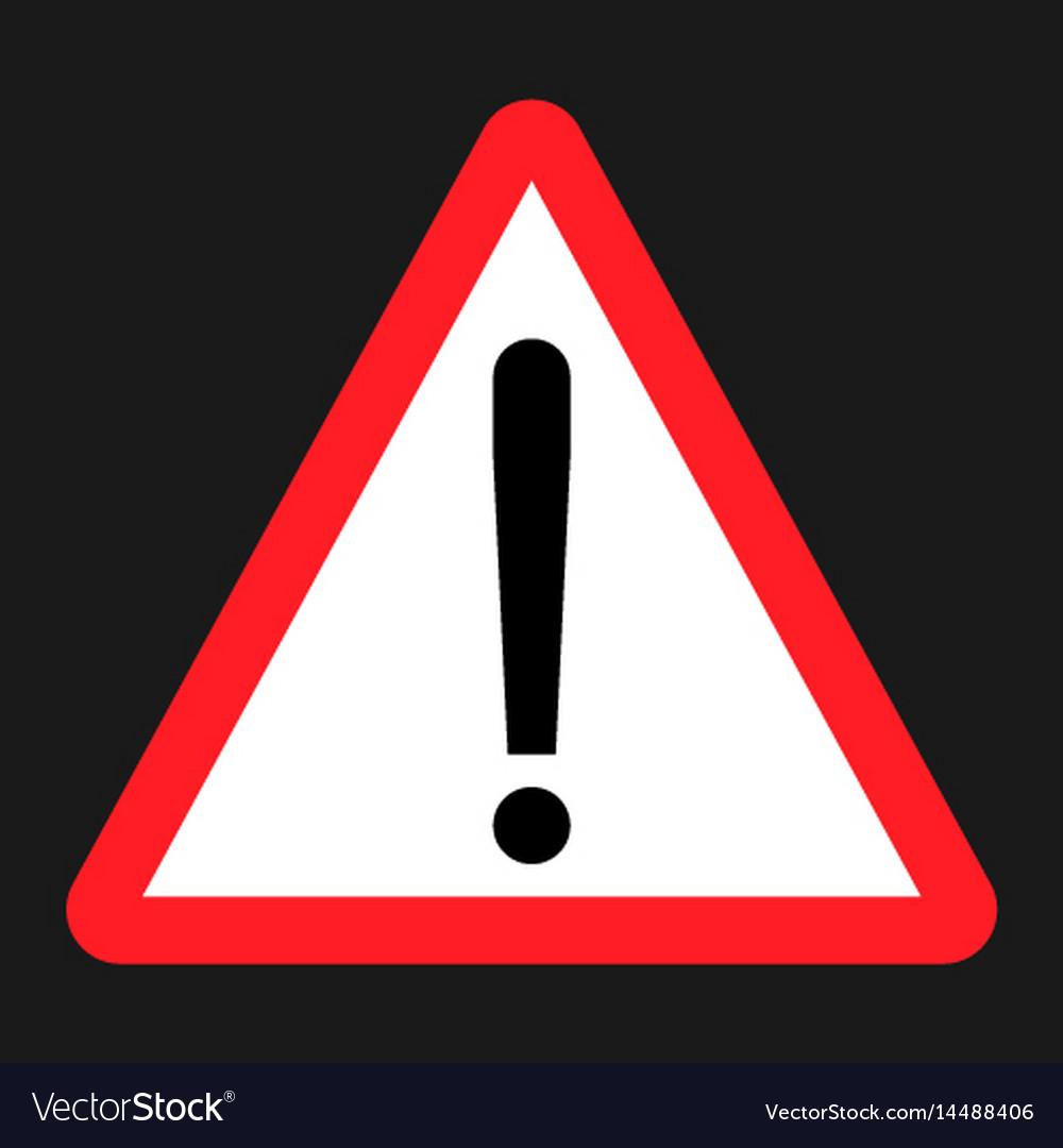 warning hazard sign flat icon royalty free vector image
