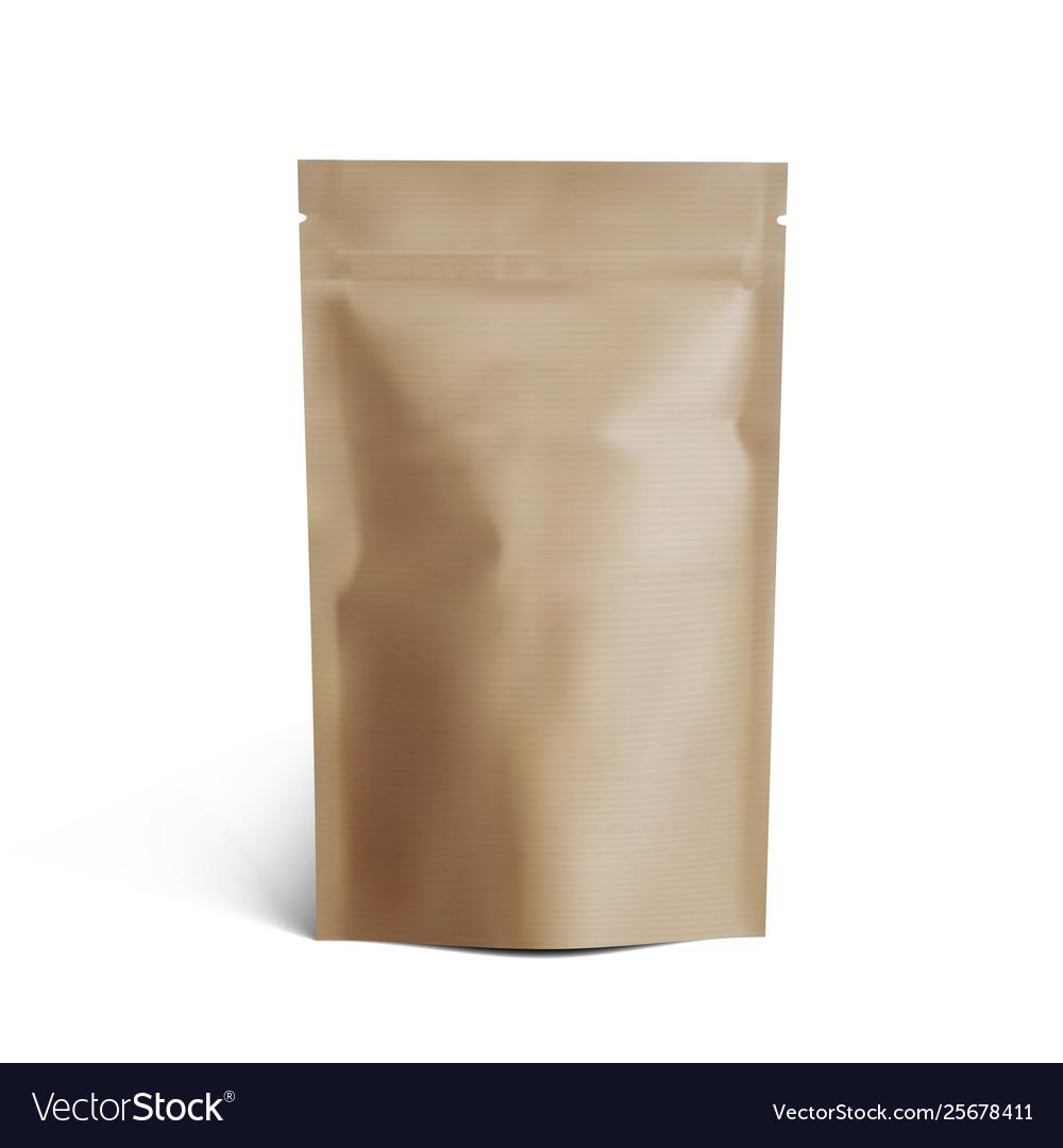 Blank luxury brown craft cardboard paper bag for