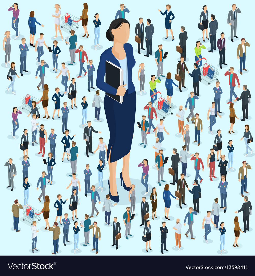 Businesswoman big boss leader