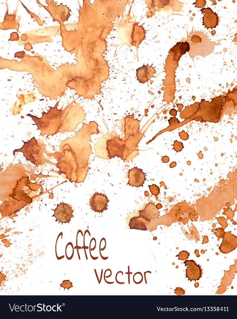 Coffee paint splashes vector image