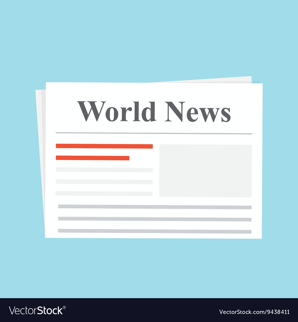 Newspaper World News The daily edition Flat vector image