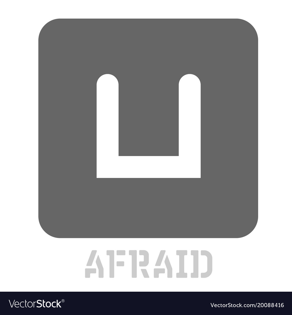 Afraid conceptual graphic icon