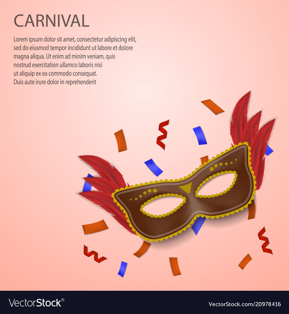 Carnival concept background realistic style