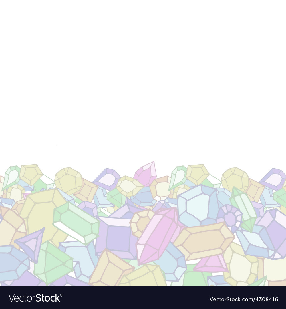 Cartoon doodle gems light background
