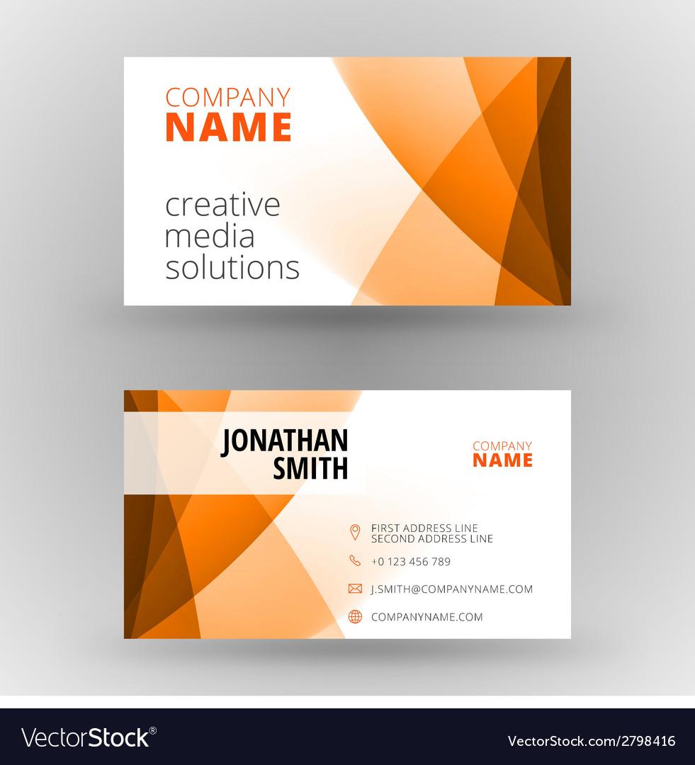 Creative business card design print template Vector Image