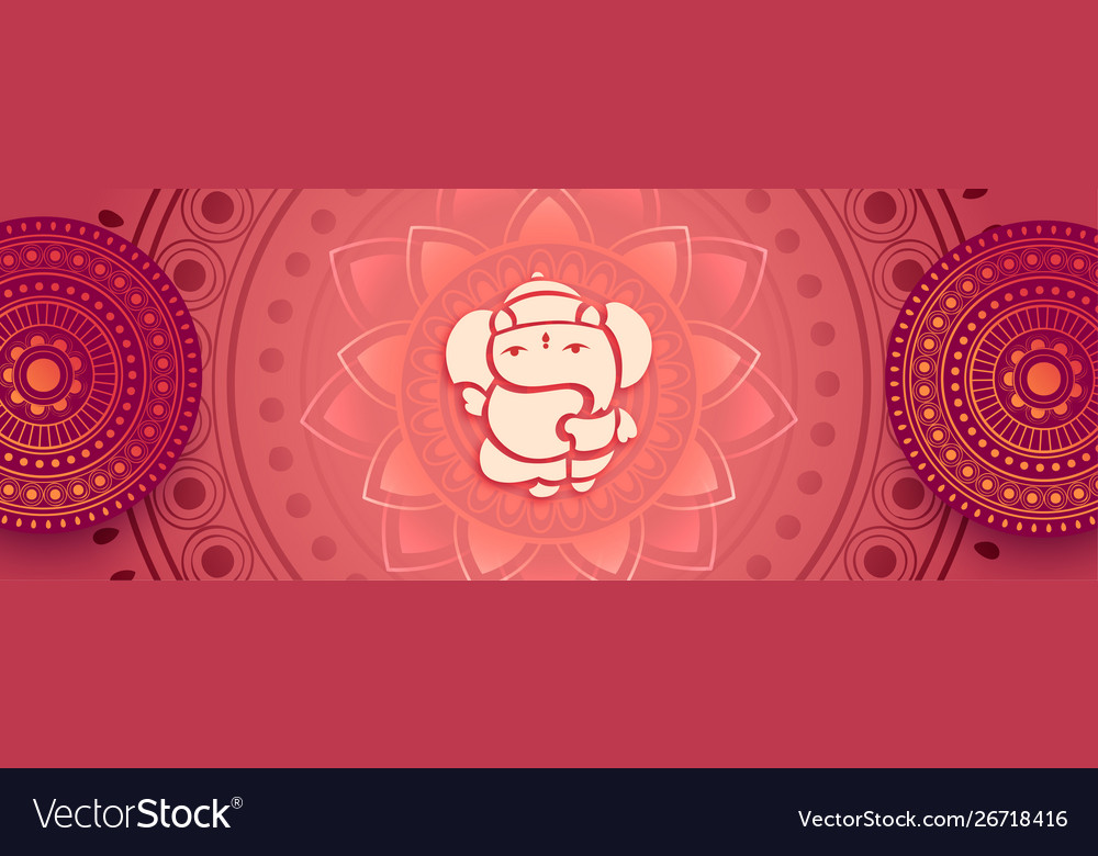 Decorative beautiful lord ganesha artistic