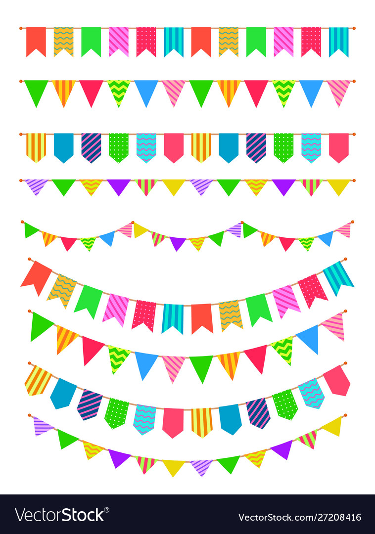 Garland with flags rainbow garlands hanging