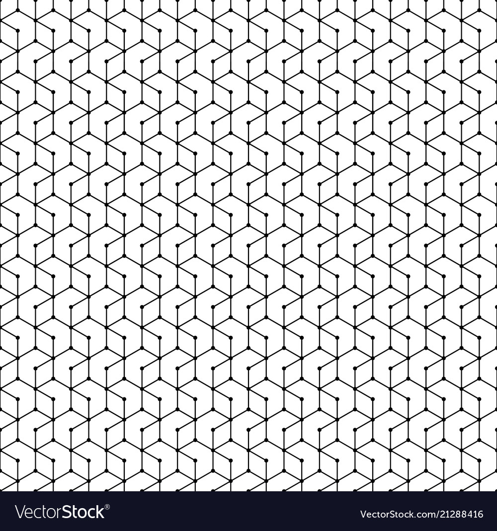 Hexagon seamless pattern monochrome geometric