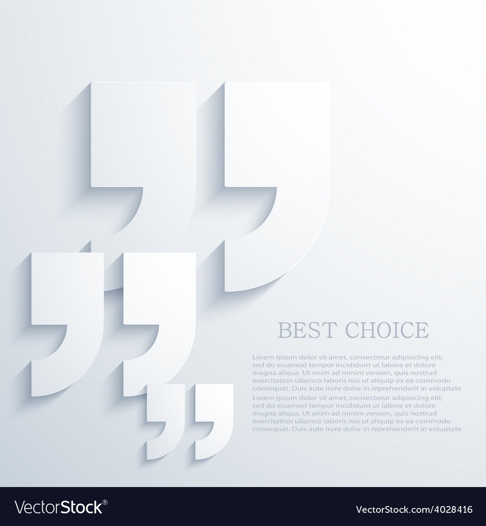 Modern quote icons background