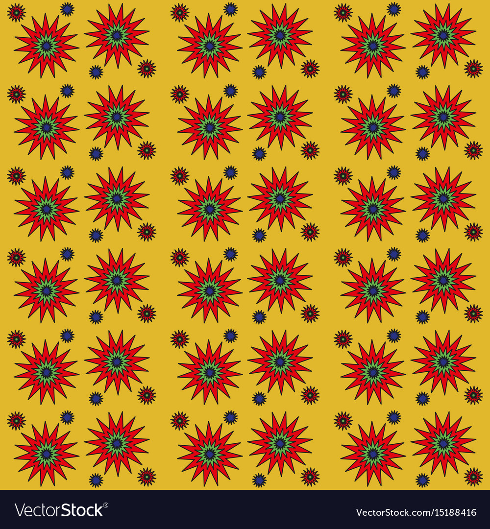 Seamless simple pattern with stars vector image