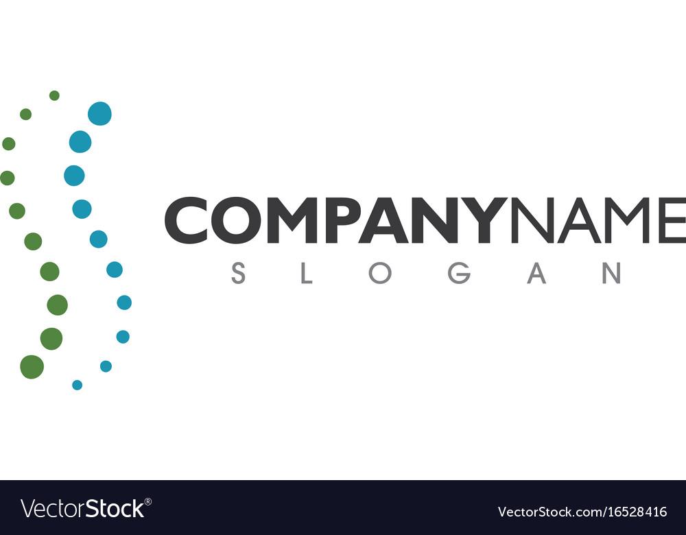 Spine diagnostics symbol logo template design