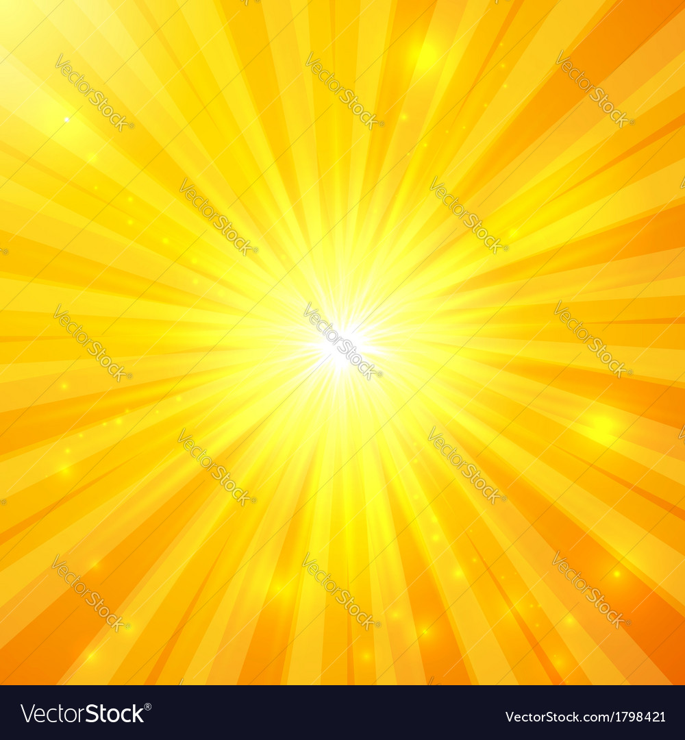 Abstract yellow sunny background vector image