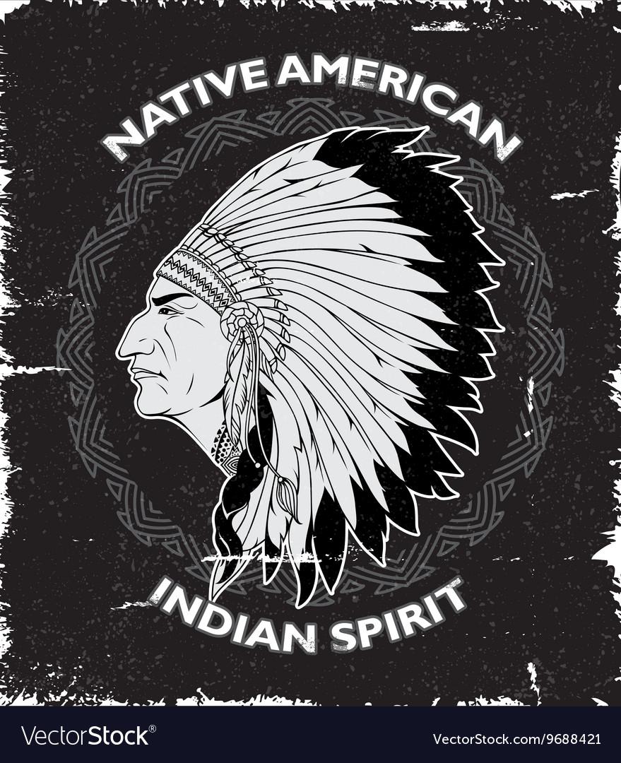 Native American Spirit Vintage Design