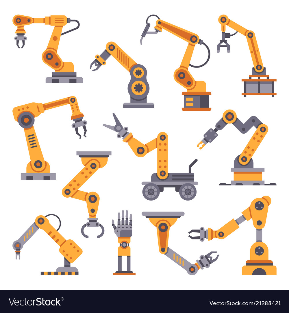 Robotic arms set manufacturing automation