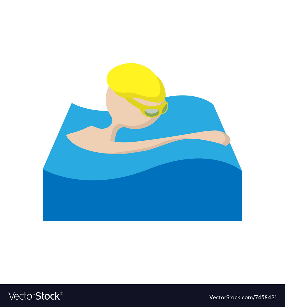 Swimmer cartoon icon vector image