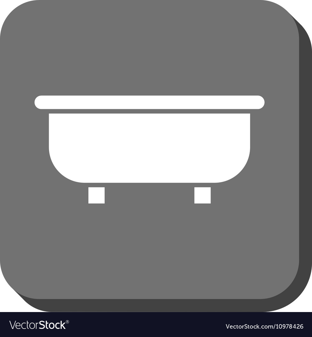 Bathtub Rounded Square Icon Royalty Free Vector Image
