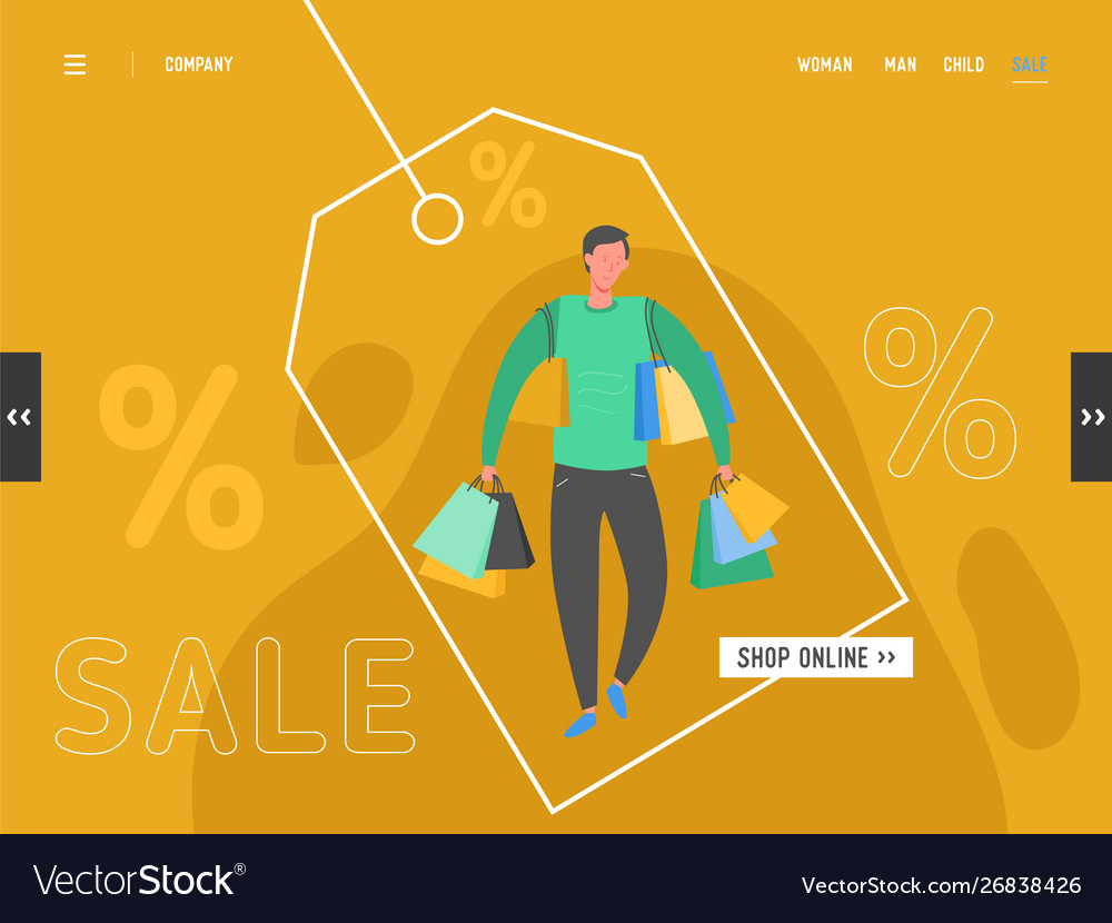 Concept shopping theme black friday online sale