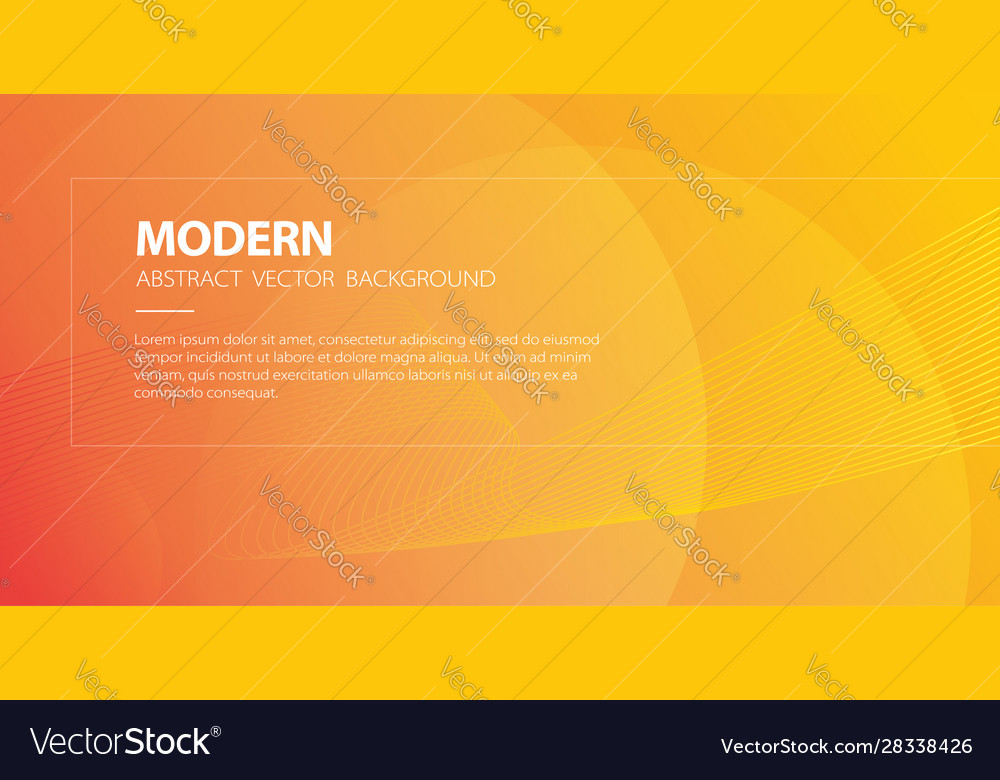 Orange abstract modern background with wavy lines
