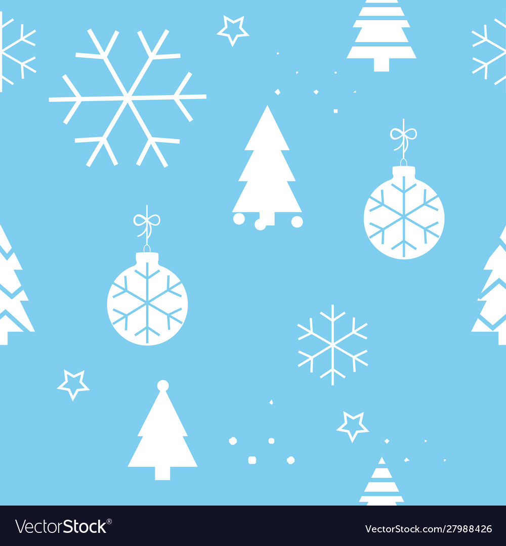 Simple christmas seamless pattern with white
