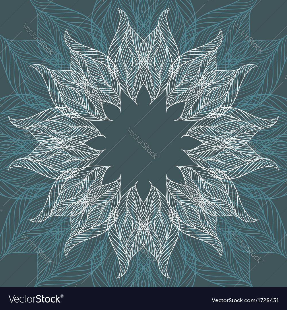 Abstract background with flower vector image