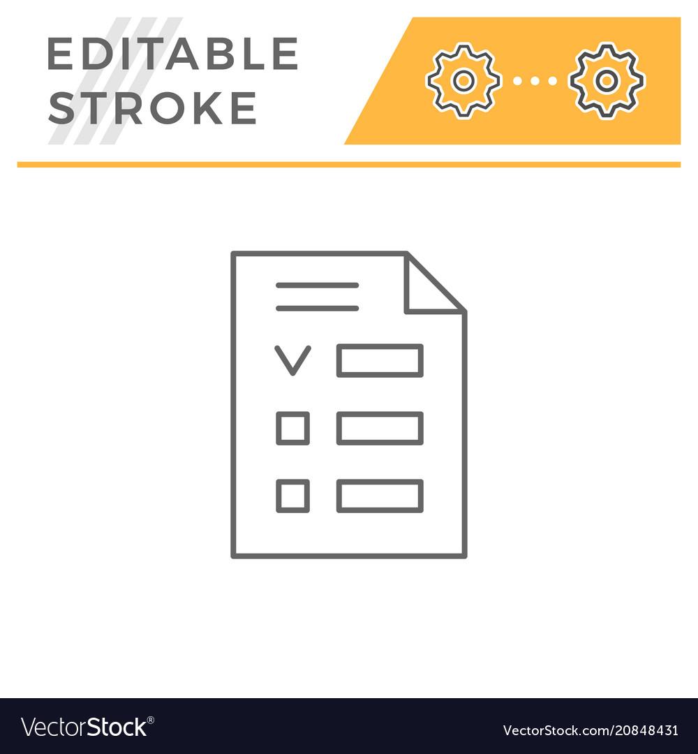 Checklist line icon