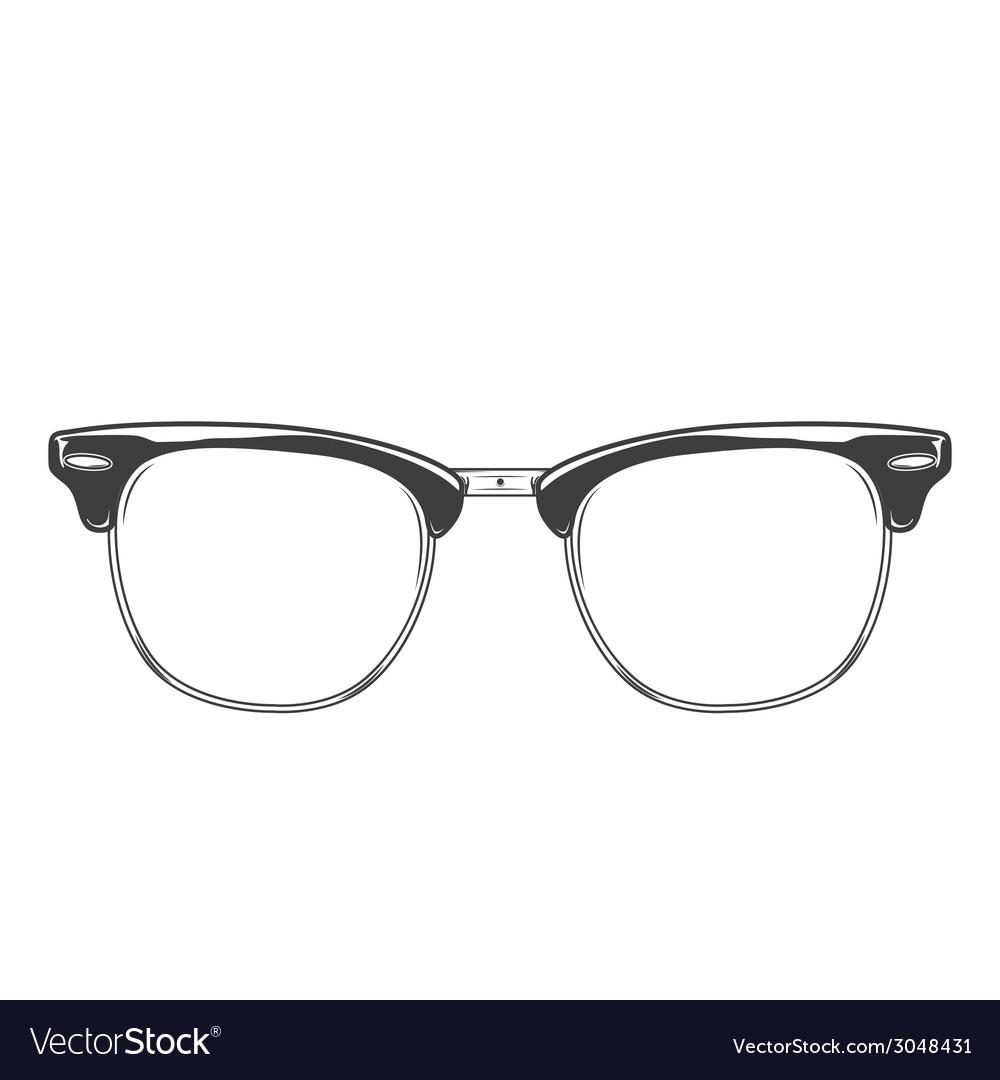 140c4e5c0 Classic sunglasses clubmaster Royalty Free Vector Image