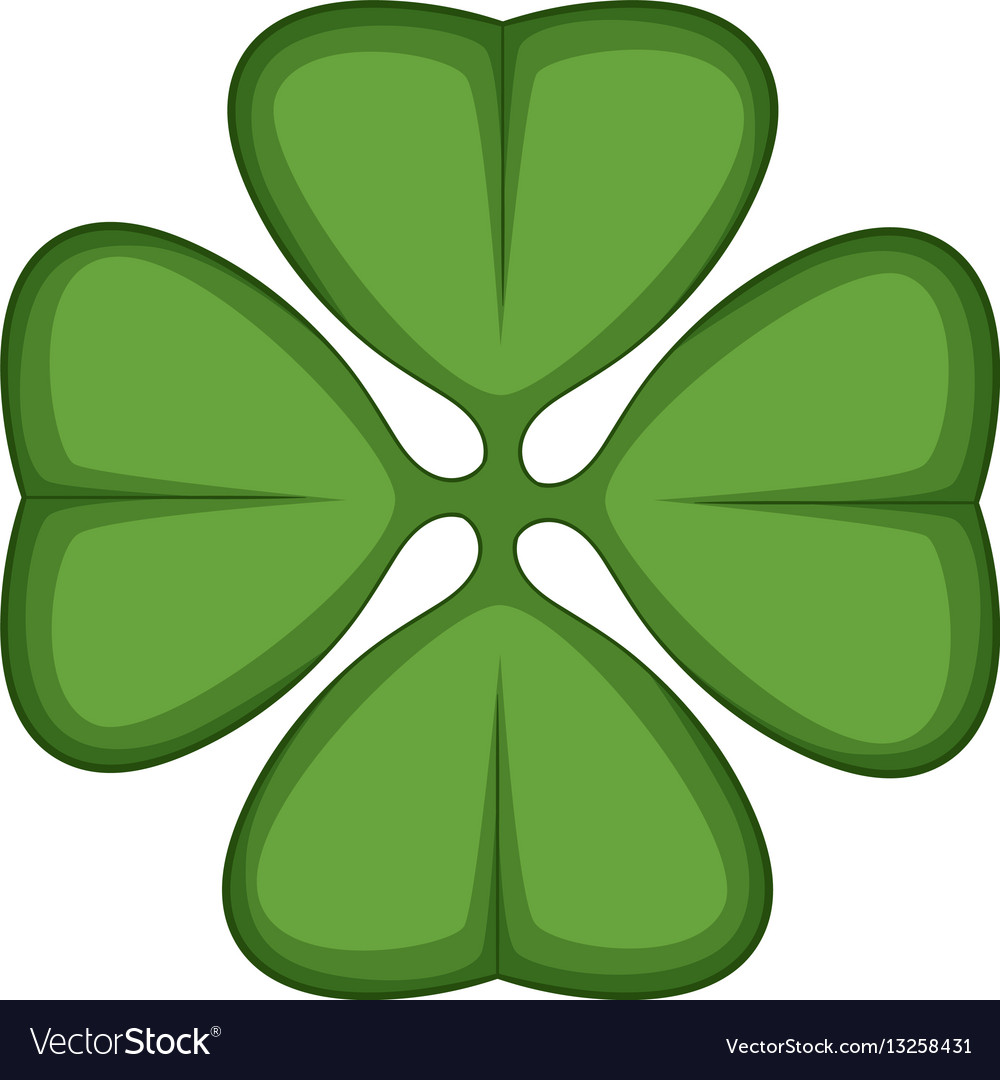 Cloverleaf icon cartoon style