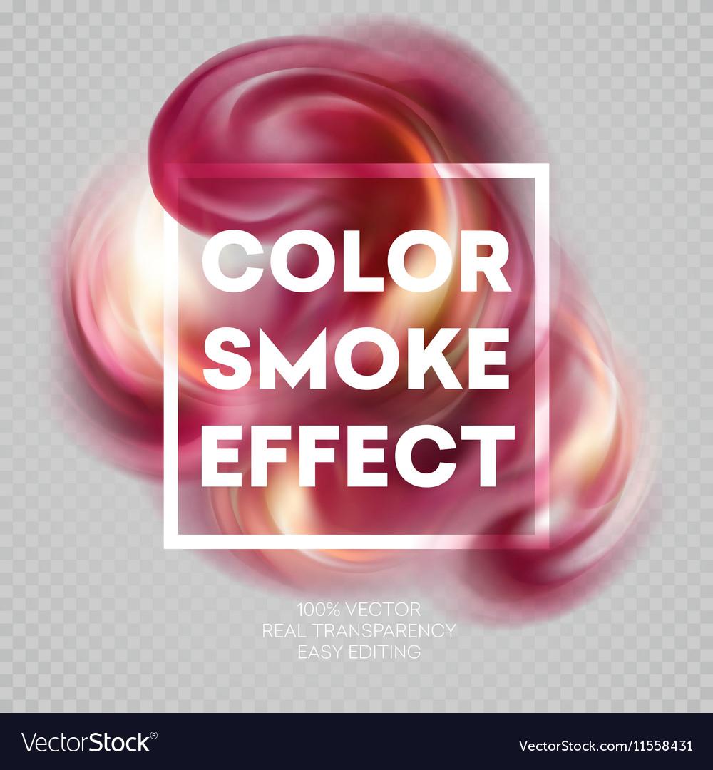 Colorful smoke on isolated background