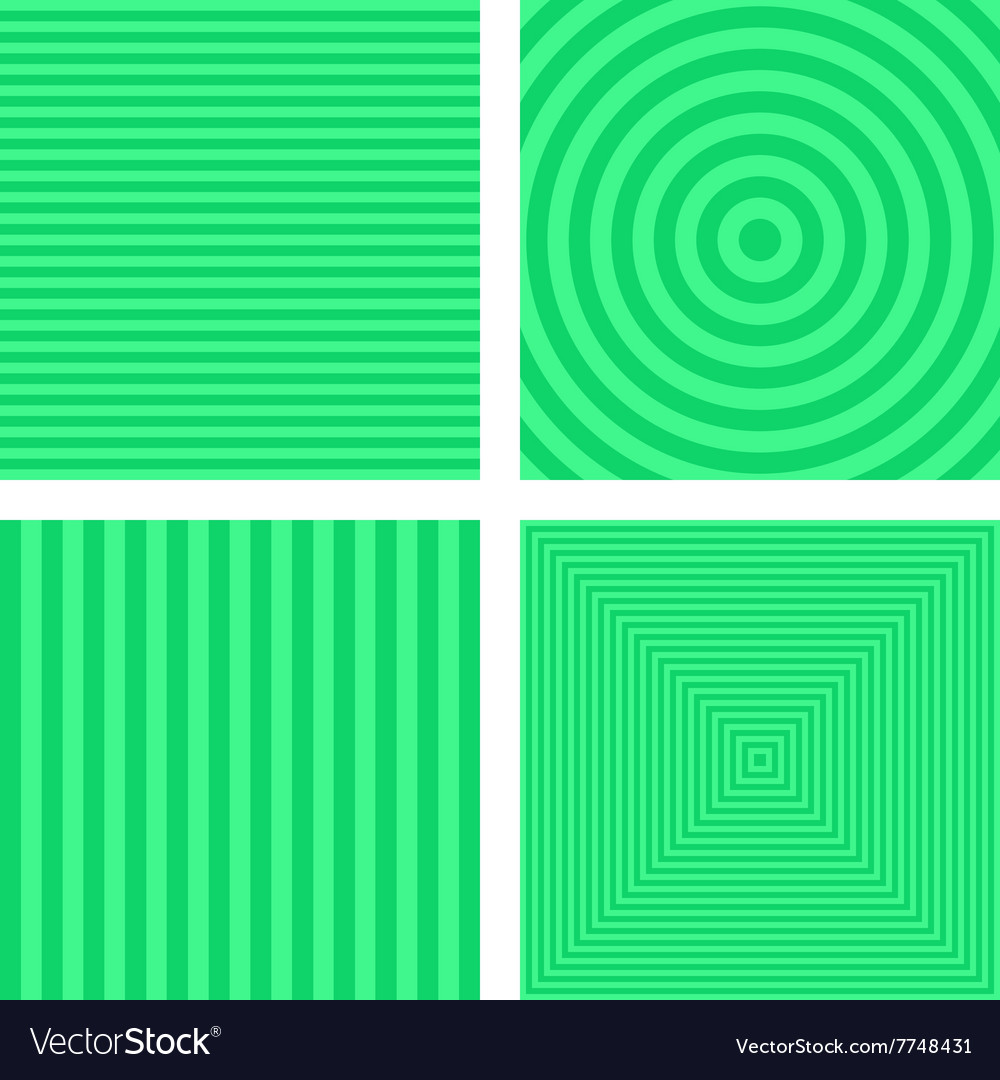 Light green simple striped background set vector image