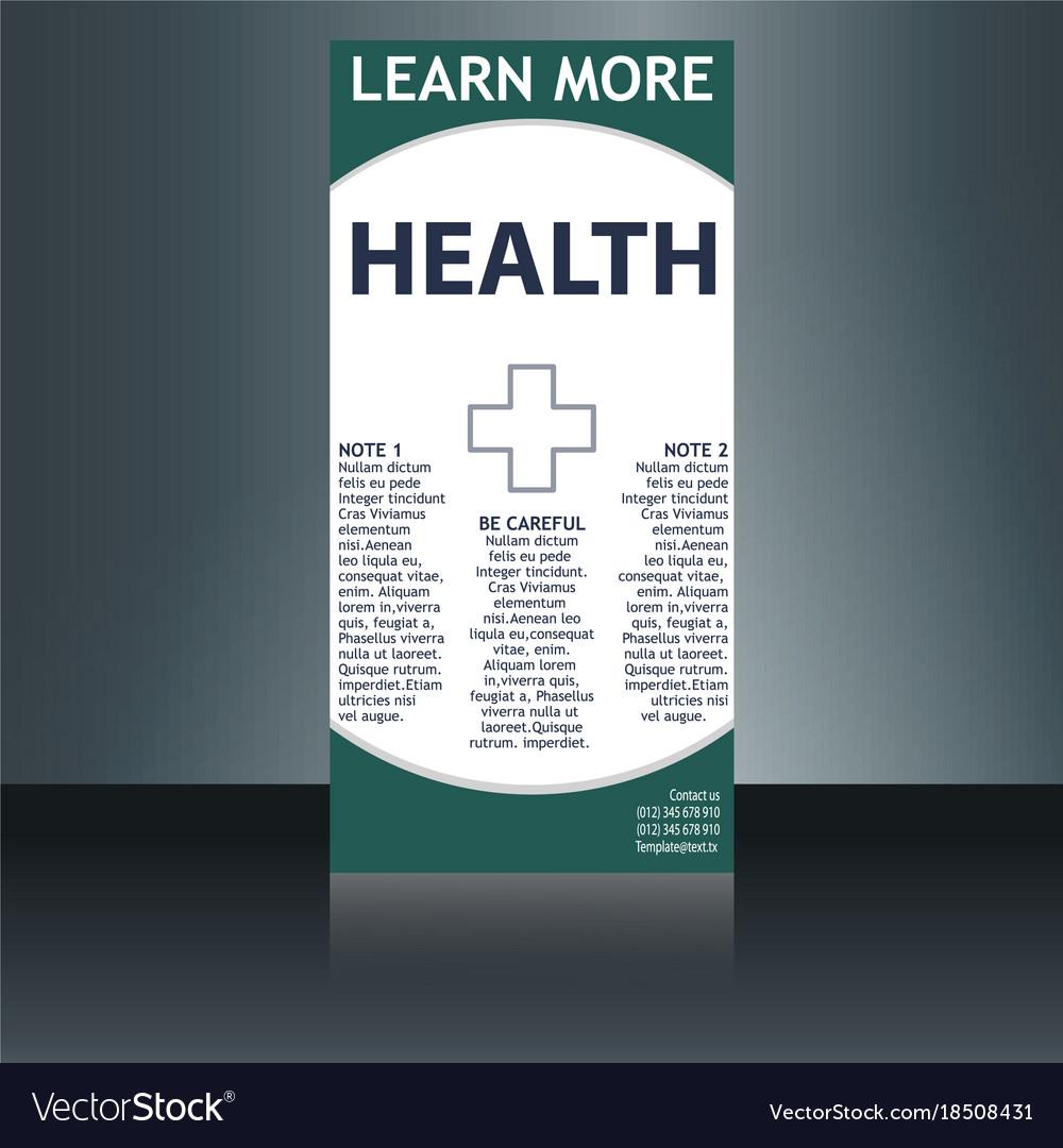 Medical brochure flyer design template a4 size vector image on VectorStock