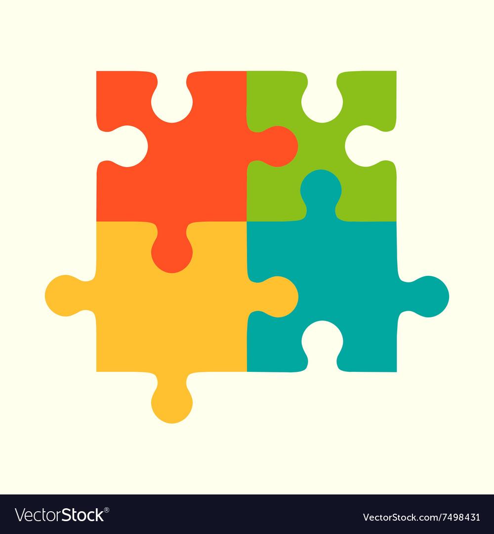 puzzles flat puzzles logo puzzle design puzzle vector image rh vectorstock com puzzle vector free download puzzle vector illustrator