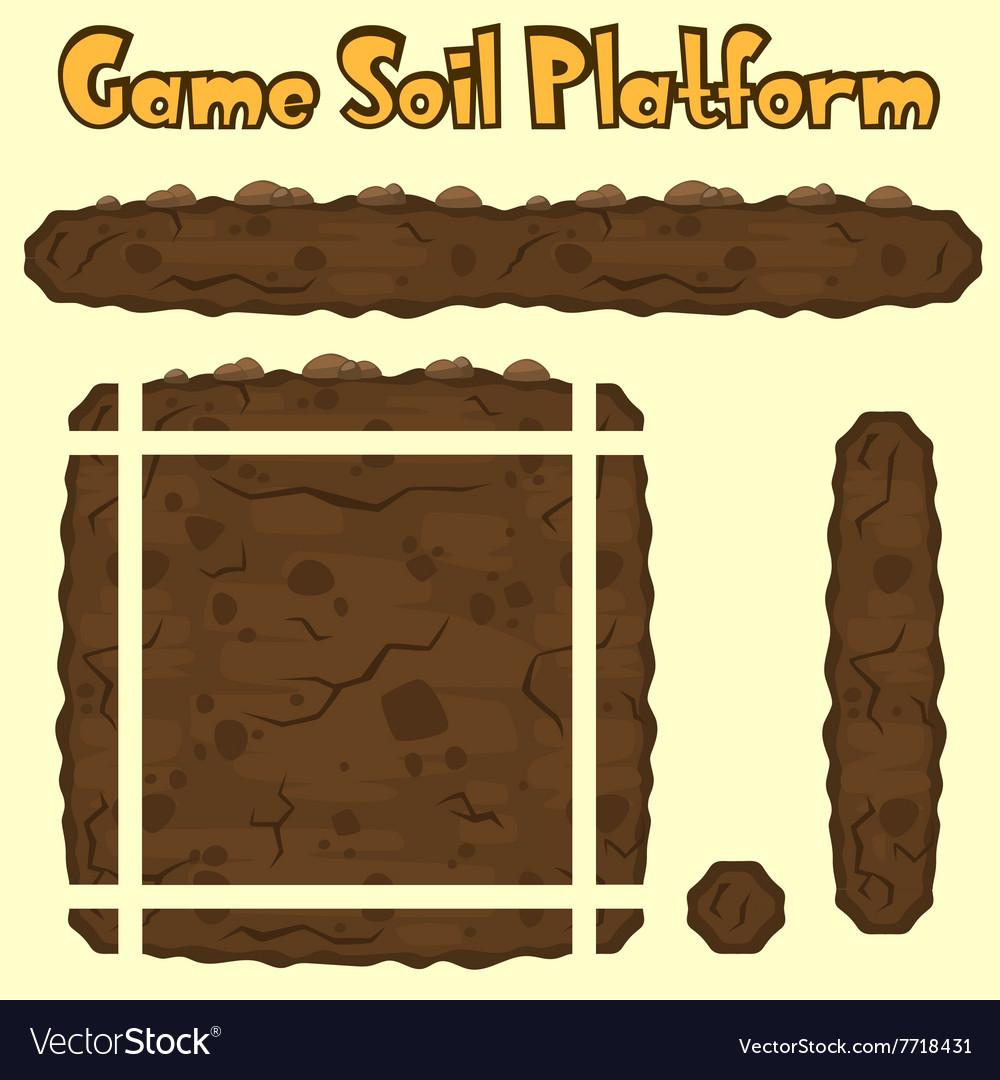 Soil platform texture for games vector image