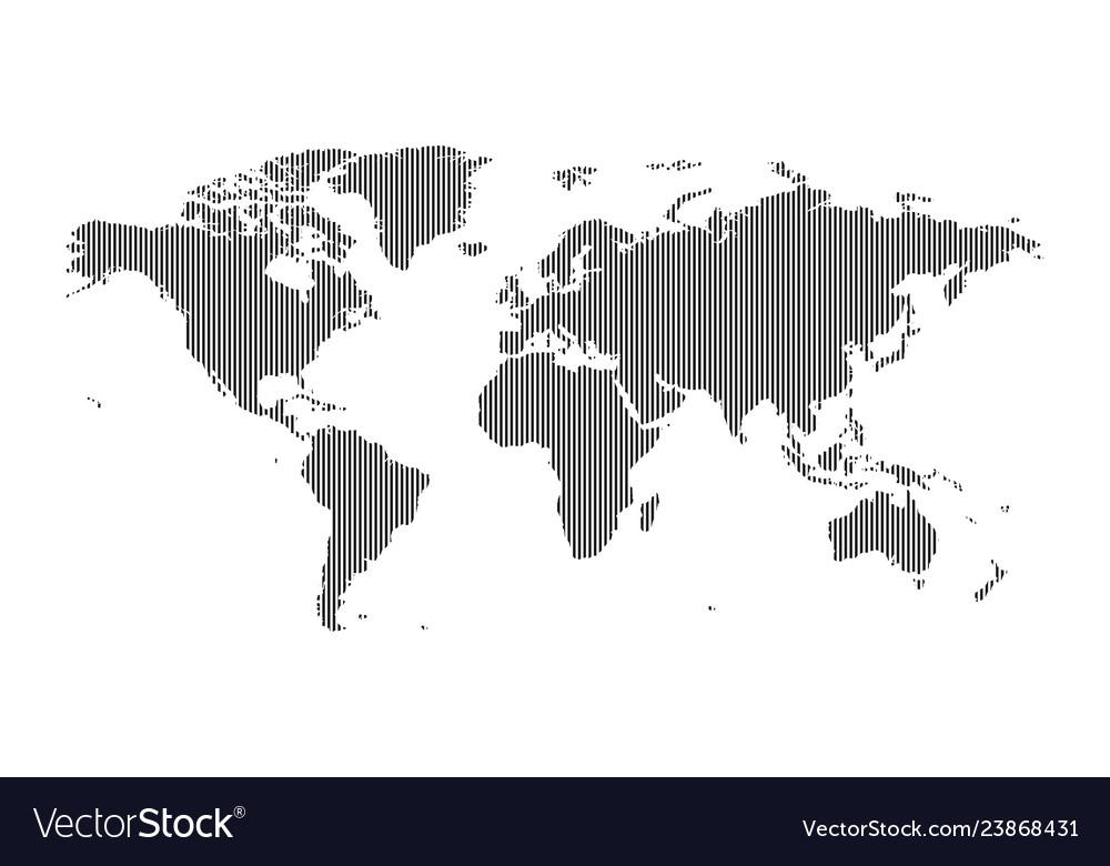 Vertical striped world map