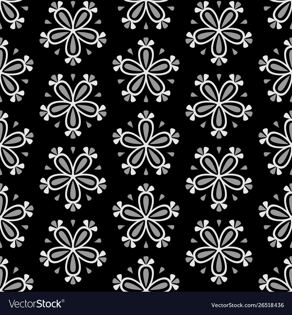 Abstract seamless floral pattern with white flower