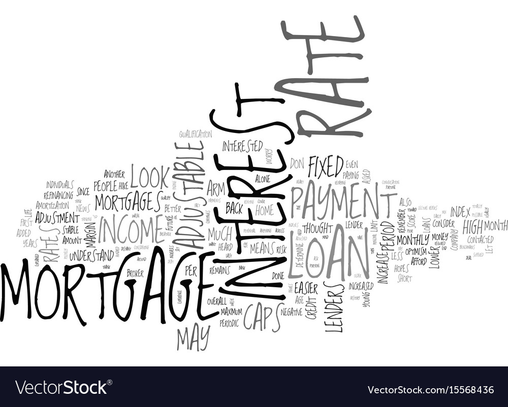 Adjustable rate mortgages this home mortgage loan