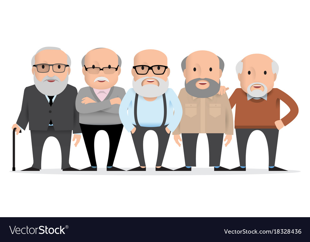 Aged people a group of old people